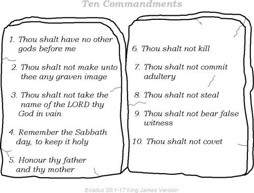 Superb image within kjv ten commandments printable