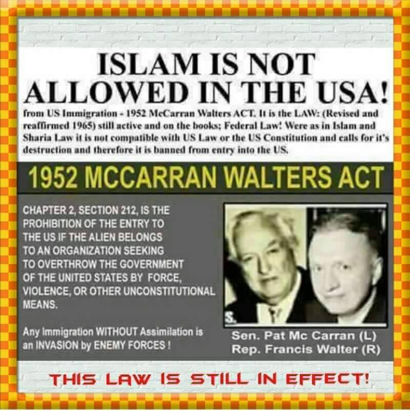 islam now allowed is USA