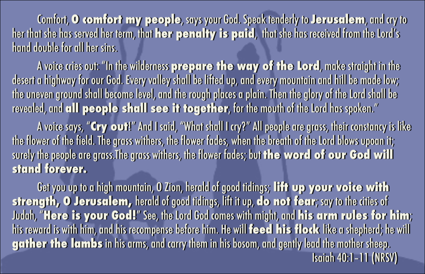 Isaiah 40-1-11