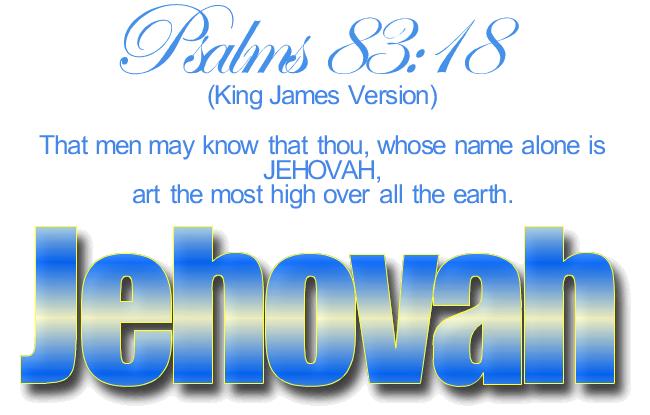 Psalms 83:18 KJV JEHOVAH and more Blessings!! | Kristi Ann's