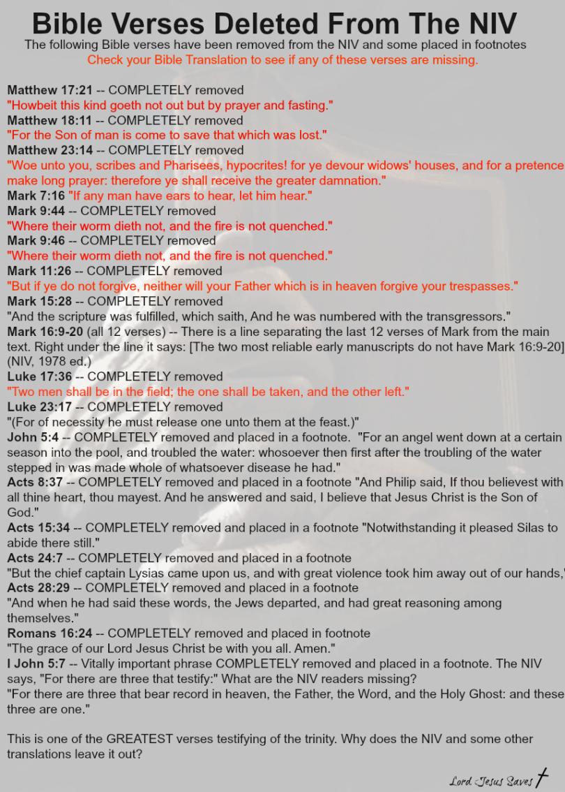 The KJV 1611 vs  The Newer Translations!!   Kristi Ann's Haven