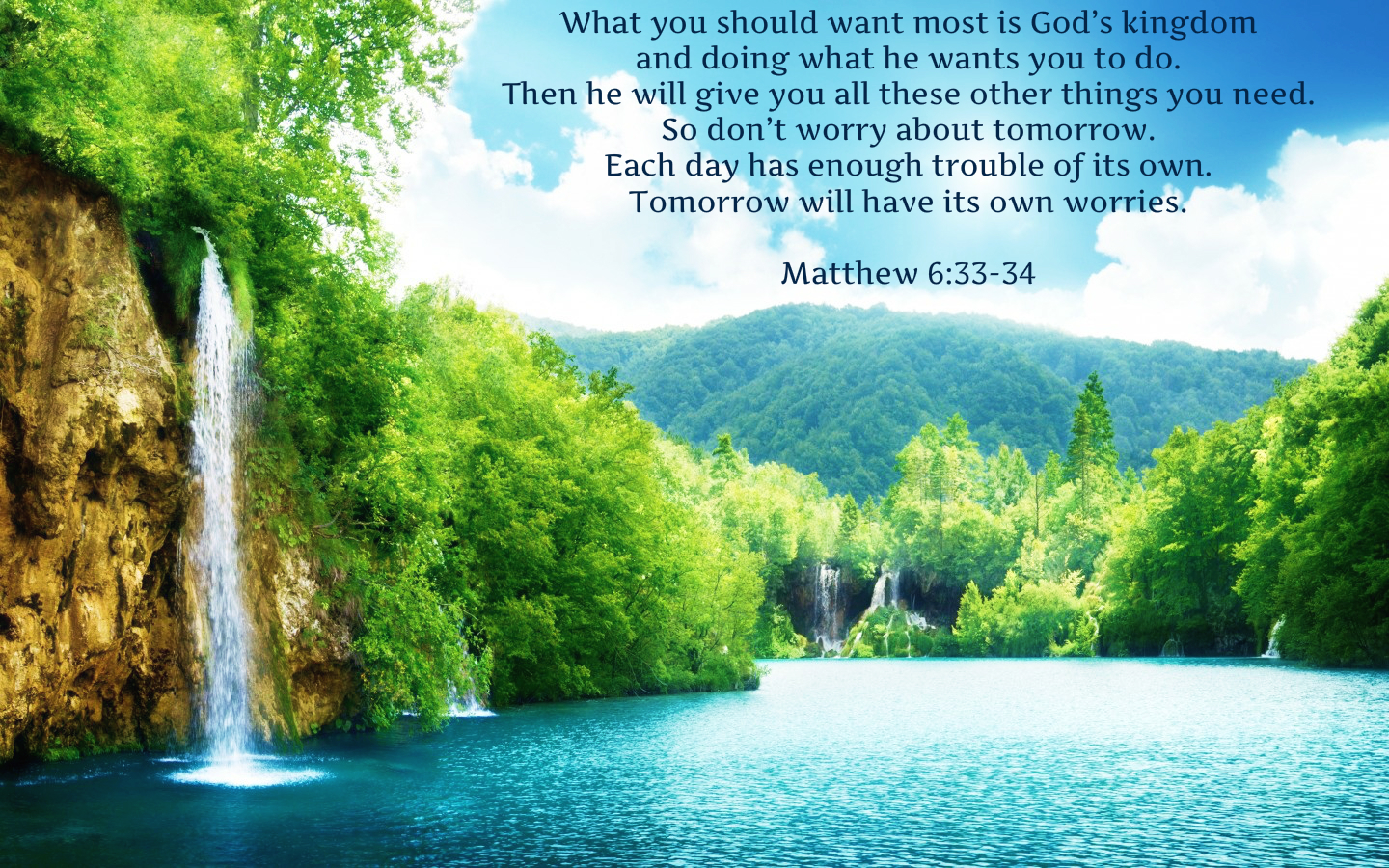 """❥ Matthew 6:34: """"Therefore do not be anxious about tomorrow, for ..."""