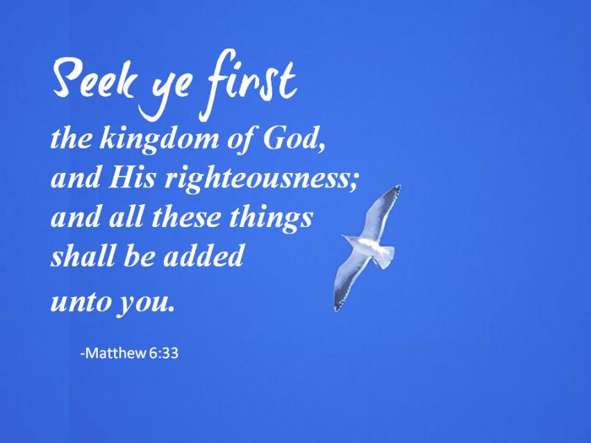 seek ye first1