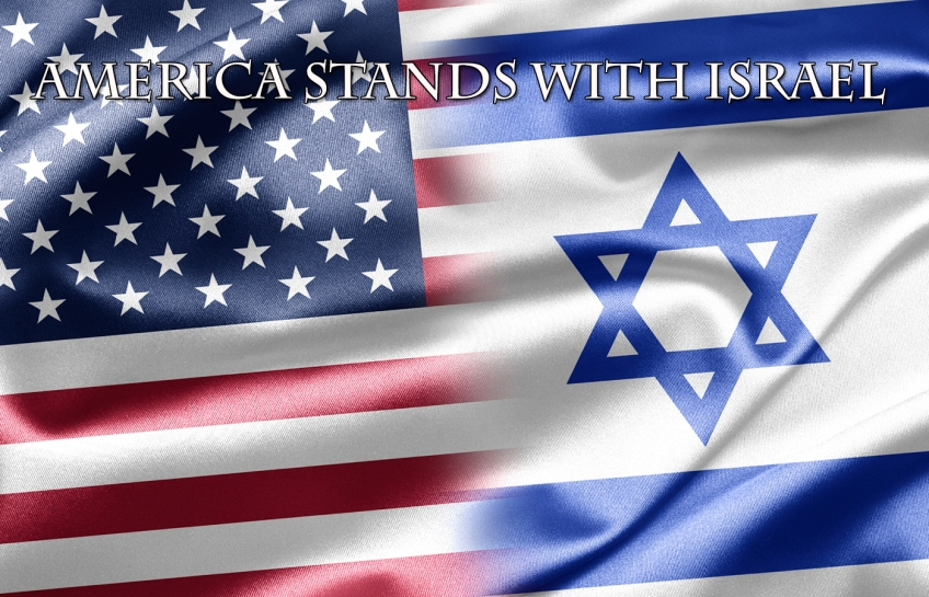 iStock 20492165 MD - American and Israeli flags