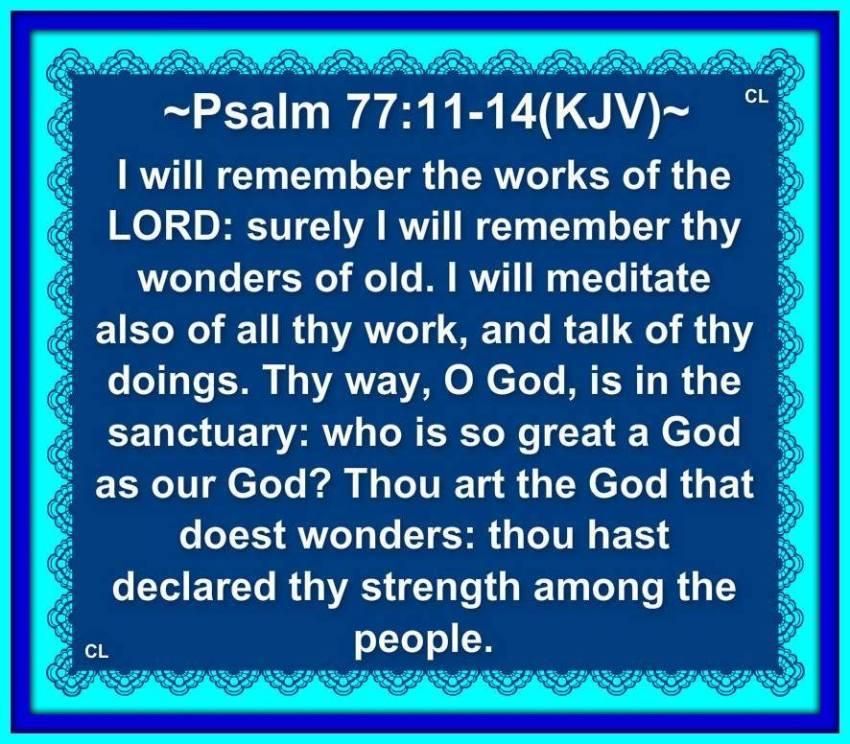 psalm 77 kjv