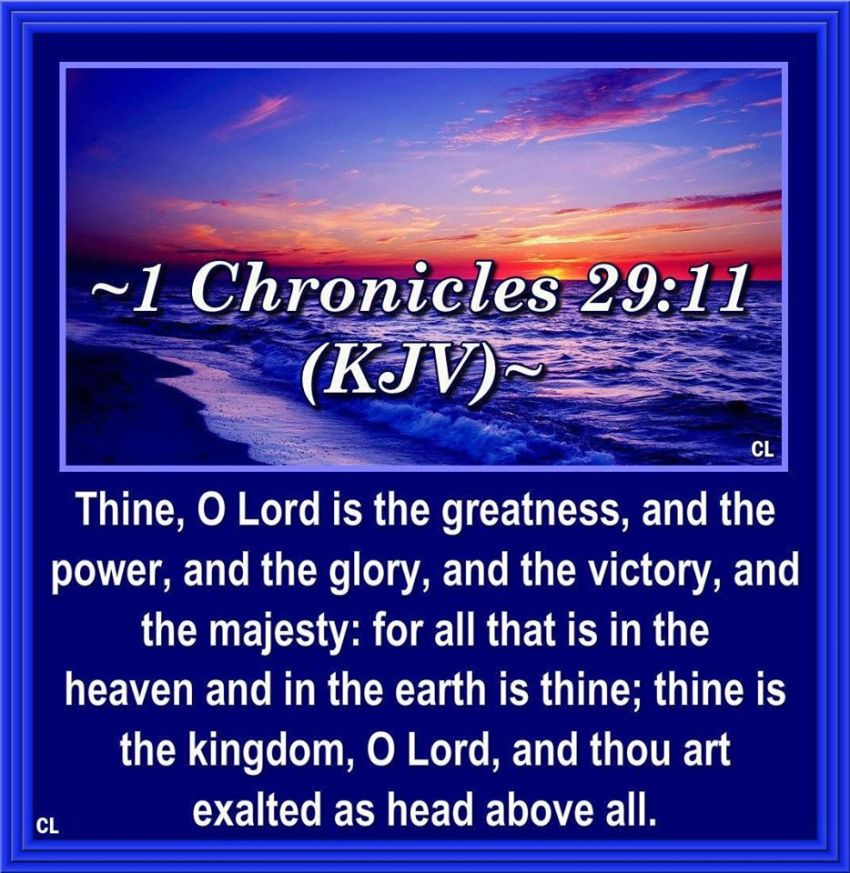 Image result for 1 chronicles 29:11 kjv