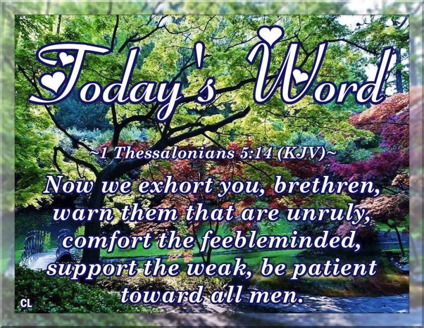 1 Thessalonians 5 14 Kjv And More Blessings Kristi Ann S Haven