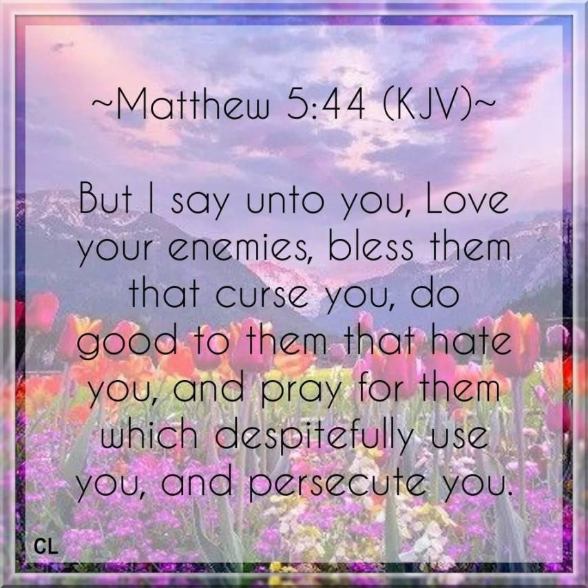 Matthew 5:44 KJV and more Blessings!! | Kristi Ann's Haven